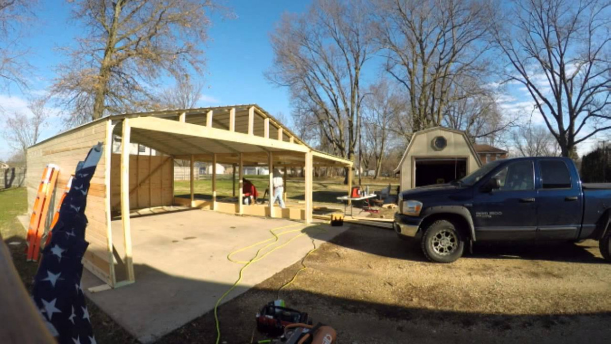 Versatube Carport to Garage conversion