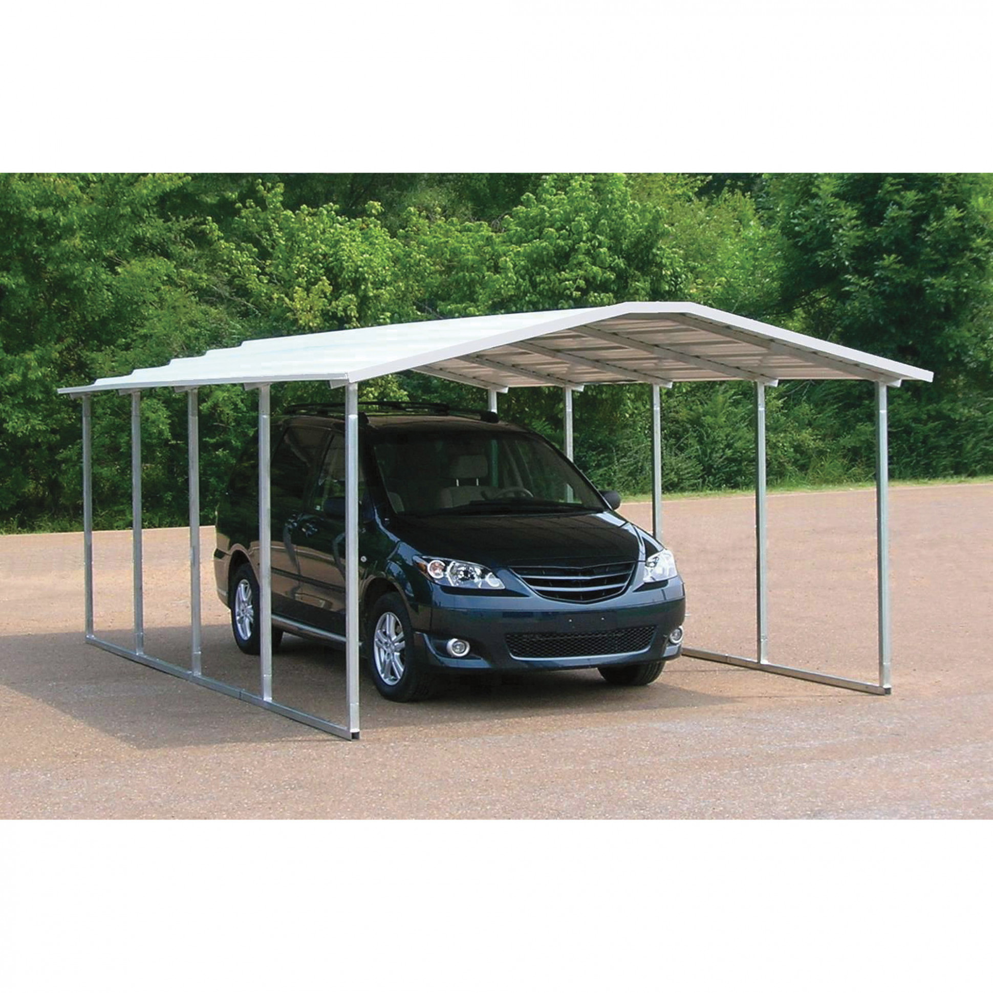 VersaTube Steel Carport/Shelter — 20ft.L X 12ft.W X 6ft.H ..