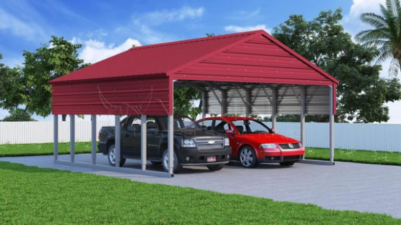 Vertical Roof Metal Carport Hail Protection Steel Carports Vertical Roof Style Carports