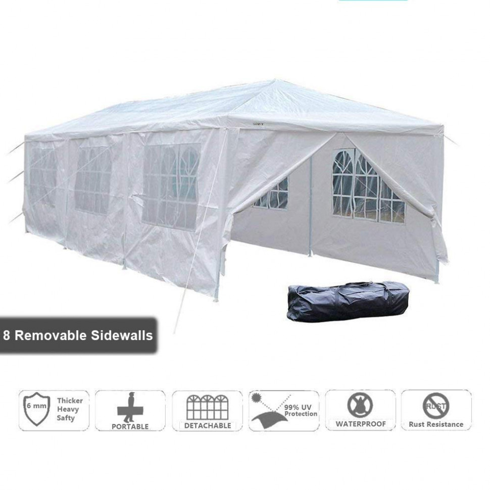 VINGLI 11' X 11' Canopy Wedding Party Tent, Upgraded Steady ..