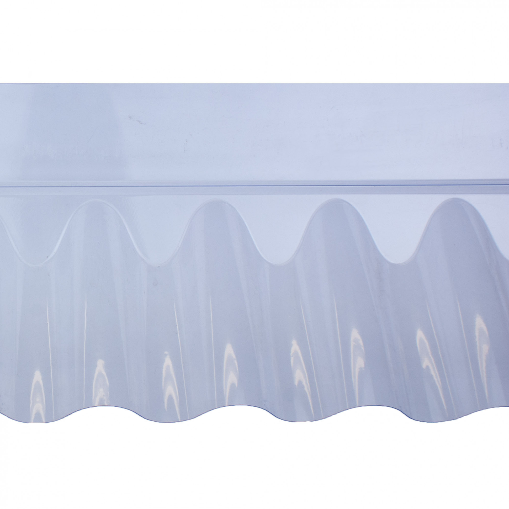 """Wall Flashing For Use With 11"""" ASB Corrugated PVC Sheet Carport Roof Flashing"""