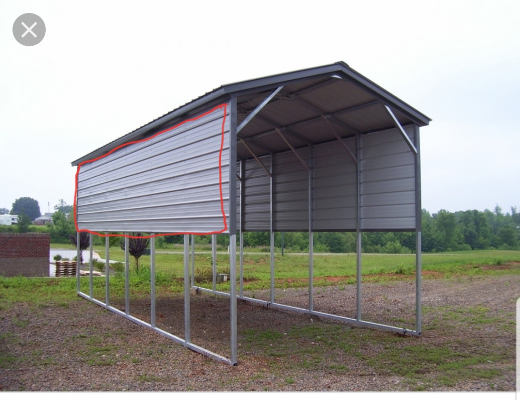 Why Do Some Carports And Lean Tos Have Panels Half Way Up? Ideas For Closing In Carports