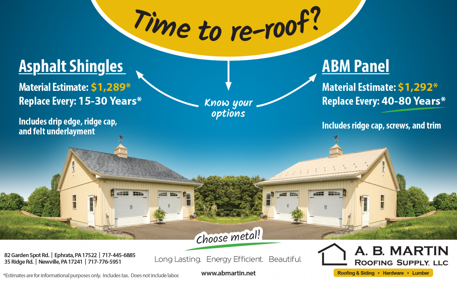Will Metal Or Shingles Cost Me The Most? A. B. Martin ..