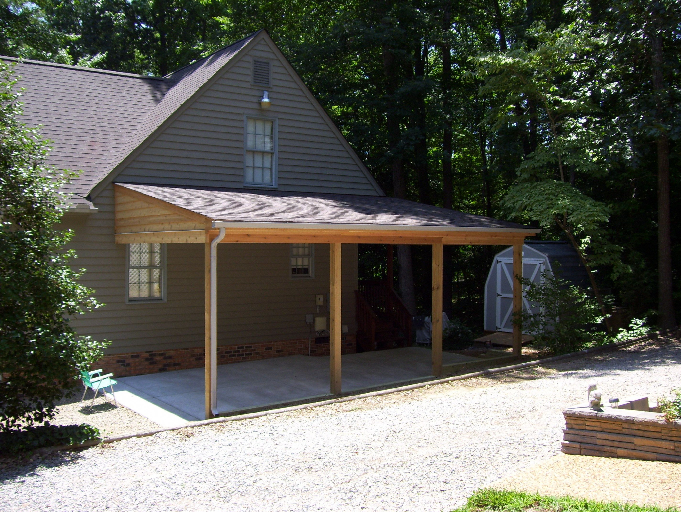 Wood Carport Attached To House   Zef Jam Wooden Carport Lean To