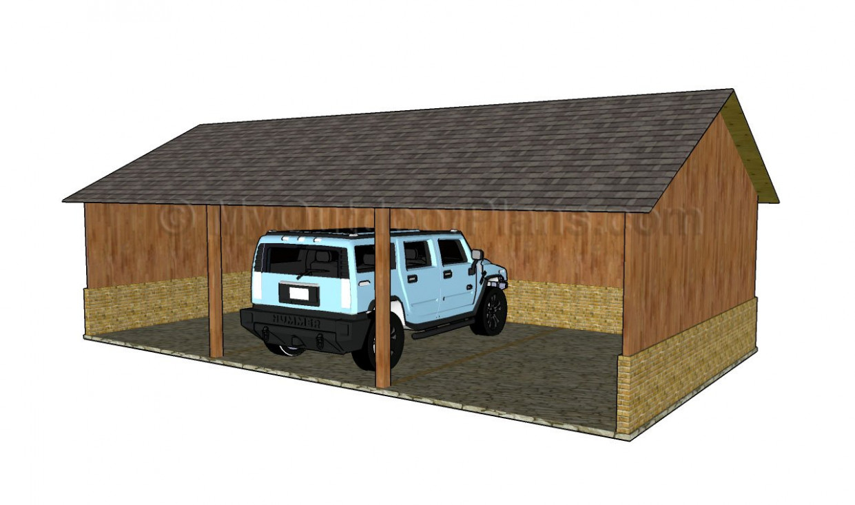 Wood Carport Designs | MyOutdoorPlans | Free Woodworking ...