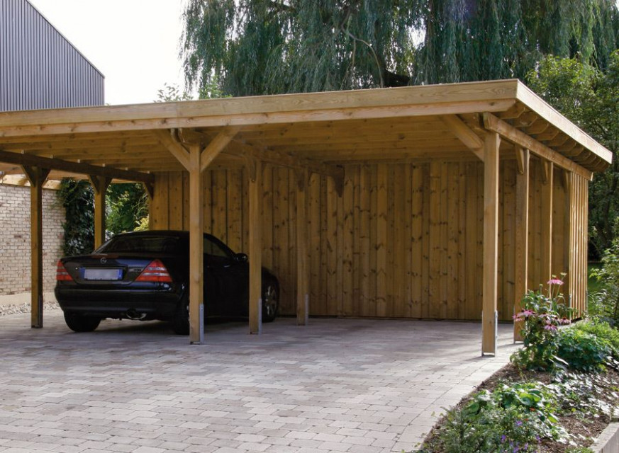 Wood Carports, Flat Roof, Sloping Roof • Braun & Würfele ..