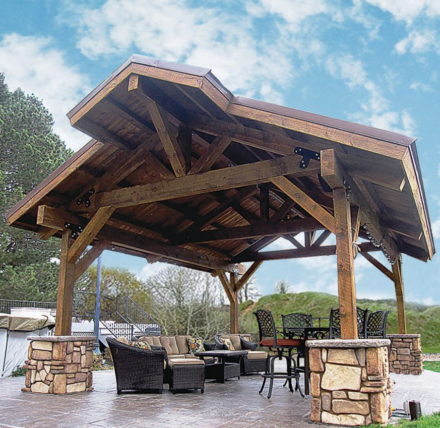 Wood Pavilions, Custom Wood Post And Beam Pavilions ..