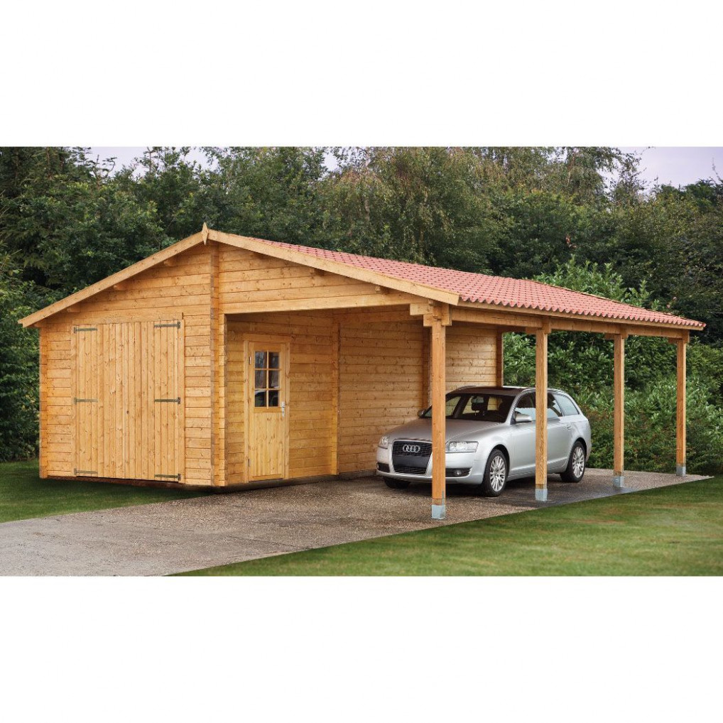 Wood Sheds With Carports | Tuin 13ft X 27ft (4m X 8.30m ..