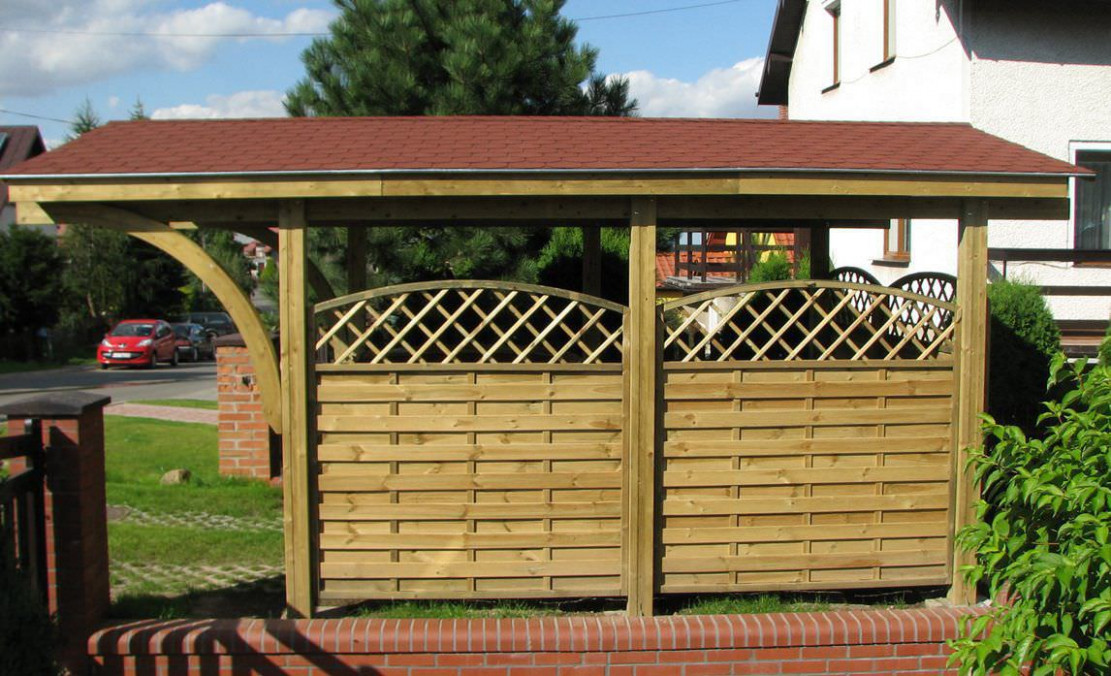 Wooden Carport NEVADA EcoCurves Wooden Single Carports