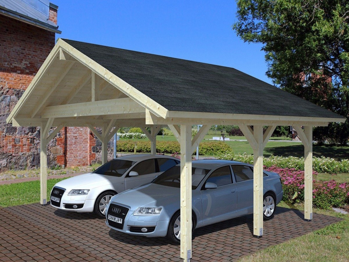 Wooden Carport Shed