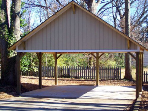 Wooden Carports | Wood Carport With Gable Roof Starting At ..