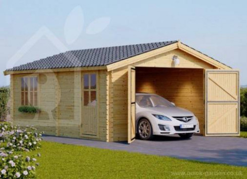 Wooden Garage, A Perfect Garden Building To Protect Your ..