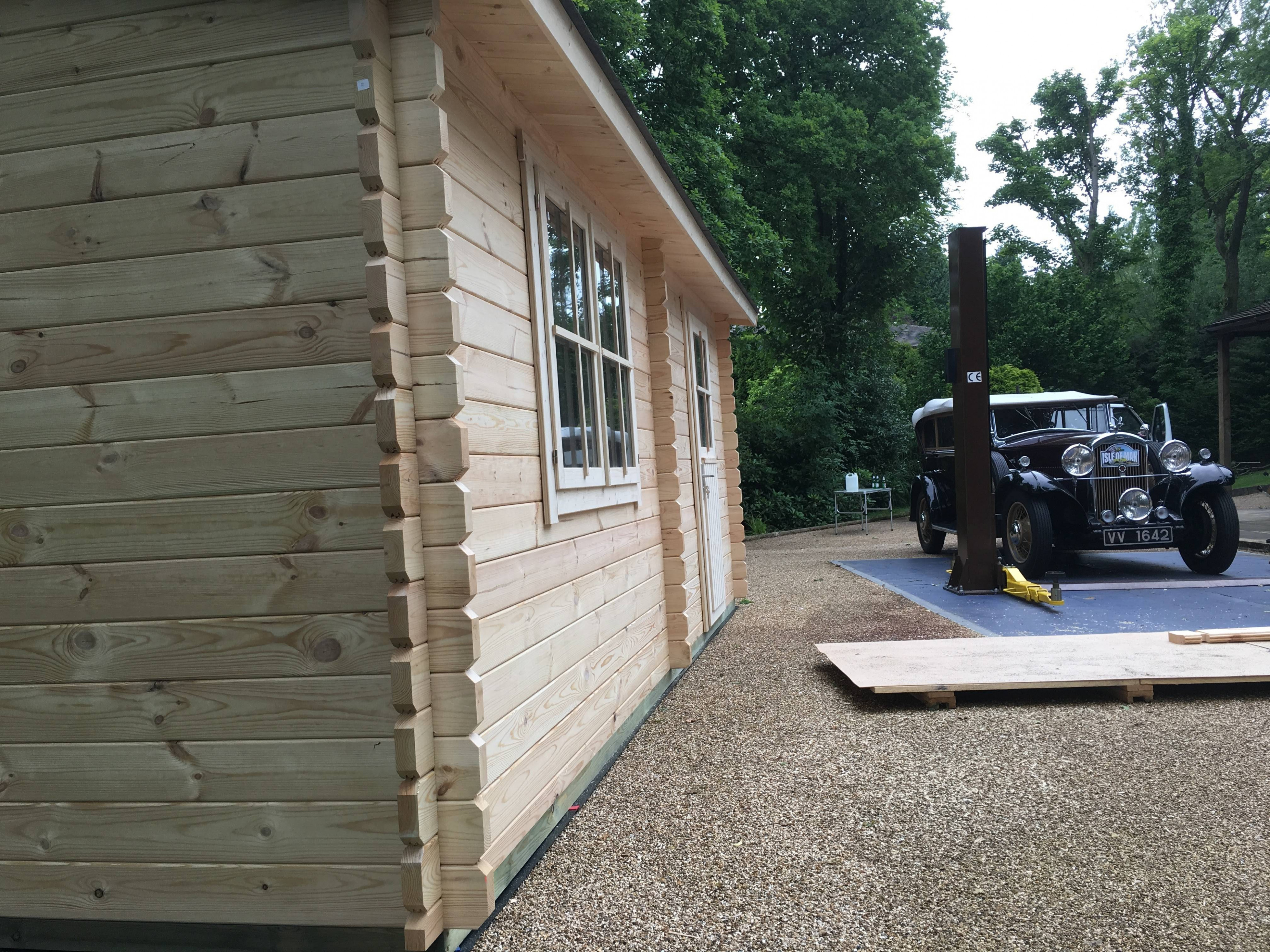 Wooden Garage For A Classic Car | Quick Garden.co