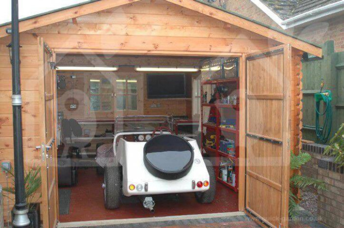 Wooden Garages & Timber Carports [Prefab Kits For Sale] Wooden Garage And Carport Uk