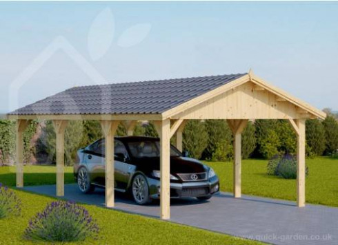 Wooden Garages & Timber Carports [Prefab Kits For Sale]