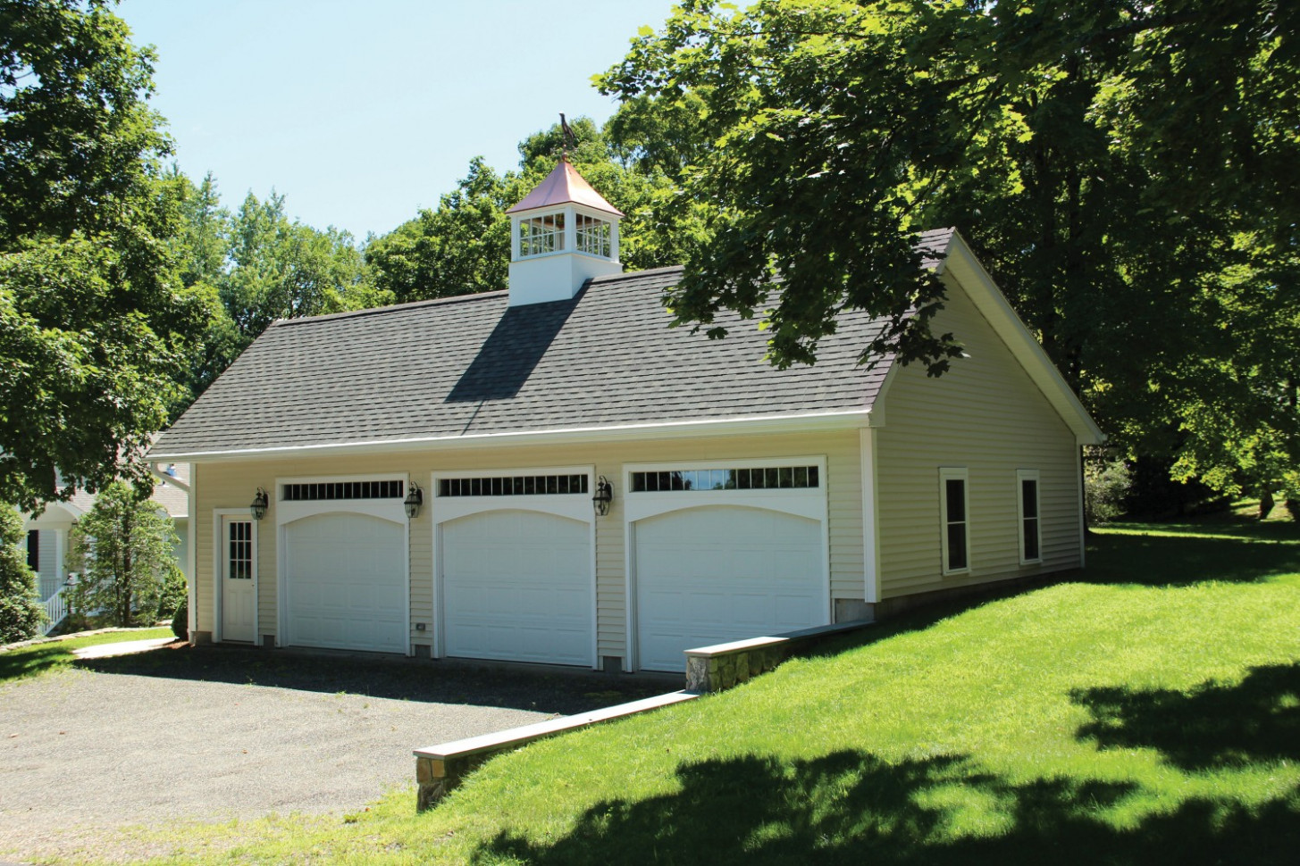 Woodstock: Saltbox Style Single Story Garage: The Barn ..