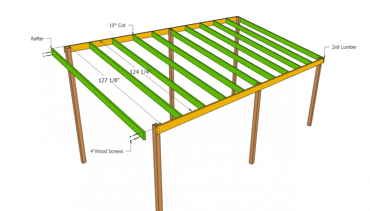 Woodwork Attached Lean To Carport Plans PDF Plans Carport Roof Design Uk