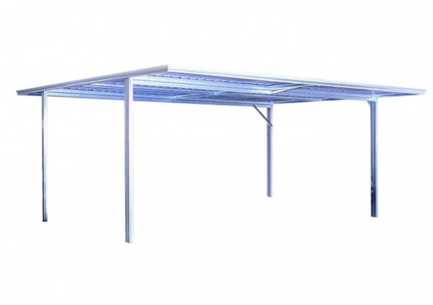 YardPro Double Carport Flat Roof 5.9m X 5.5m Zinc Double ..
