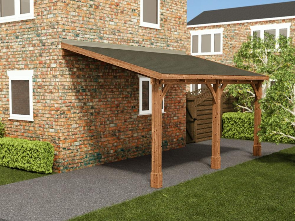 Zeus Lean To Carport Carport Roof Design Uk