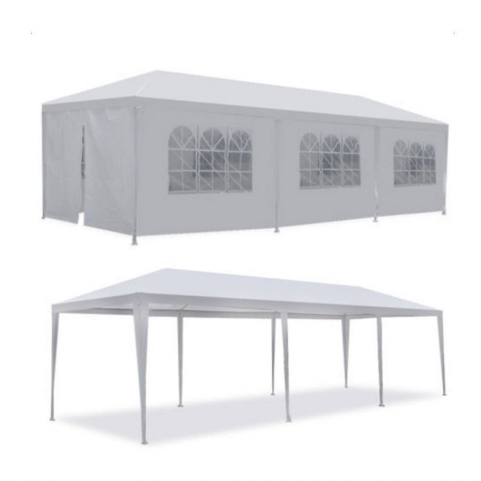 Zimtown 10'x30' Canopies Outdoor White Canopy Screen Sun ..