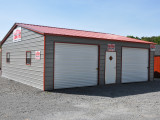 11'x11′ 11 Car Garage Metal Carports With Garage Door