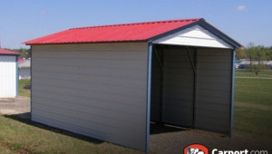Enclosed Metal Carport One Car Garage Kit Prefab Carports Fully Enclosed Metal Carport.jpg