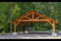 Beach Wood Timber Frame Carport Build Part 2 Youtube How To Erect A Steel Carport.jpg