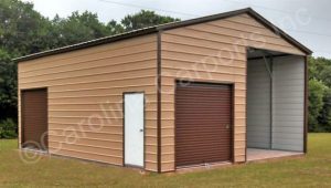 Buying Carports Cincinnati Oh A Cottage Collection Carport With Sides And Door.jpg