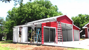 Customize My Building Hansen Buildings Carport Extension Flat Roof Metal Carport Kits.jpg