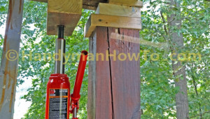 How To Replace A 6×6 Wood Deck Post Jacking Up A Carport Roof.jpg