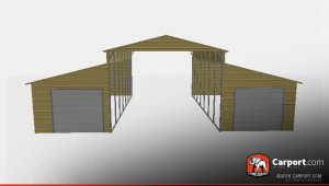 Partially Enclosed Steel Barn With A Frame Roof Shop Framing A Carport Roof.jpg