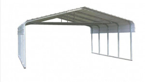 Versatube 8 Ft W X 8 Ft L X 8 Ft H Steel Carport With Truss Bracing Steel Carport Designs Flat Roof.jpg