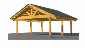 Prefab Heavy Timber Frame Carport For 12 Two Vehicles Cars Engineered Wood Canopy Wood Carport Canopy.png