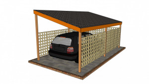 Wooden Carport Plans Howtospecialist How To Build Step Wooden Single Slope Carport Plans.jpg
