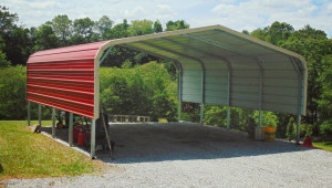 18×21 Regular Roof Metal Carport Metal Roof Portable Carport