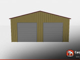 30' X 50' Metal Warehouse With Two Garage Doors ..