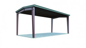 7×7 Carport: Perfect For Two Cars | General Steel Shop Prefab Wooden Carports