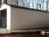9′ X 9′ Metal Building With Large Garage Door When Does A Carport Become A Garage