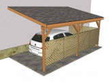 Attached Carport Plans | MyOutdoorPlans | Free Woodworking ..
