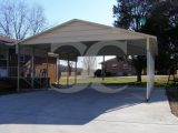 Carport | Boxed Eave Roof | 20W X 26L X 8H | 2 Gables | 2 ..