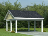Carport Plans | 2 Car Carport Plan With Support Posts ..