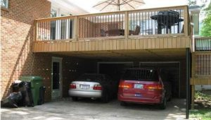 Carport With Deck Above, In Front Of The Garage. Perfect ..
