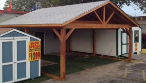 Carports Sheds, Wood Storage Shed Carport Wood Frame ..