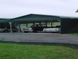 Carports | Superior Outdoor Structures Flat Roof Steel Carports