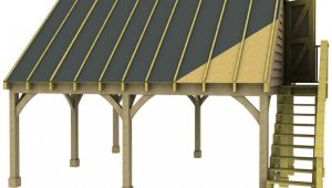 Double Carport Room In Roof Kit 45 Gable Traditional Style ..