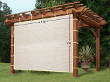 EZ9hang Sun Shade Privacy Panel 9 Sides With Ready To Tie Ribbon ,Side Shade Wall For Pergola, Porch, Carport, Instant Canopy Or Gazebo 19x9ft Wheat Wooden Carport Pictures