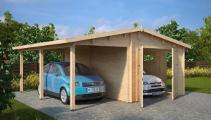 Garage And Carport Combination Type G / 8mm / 8 X 8 M Carports Garage Reviews