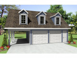 Garage Plans With Carport | 2 Car Garage Plan With Carport ..