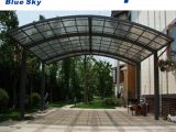 [Hot Item] Aluminium Frame Car Parking Carport With Polycarbonate Roof (B13) Carports Polycarbonate Roof