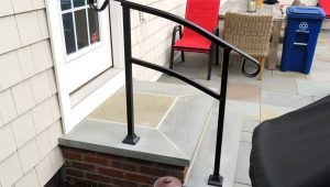 InstantRail 9 Step Adjustable Handrail (Black) Carport Railing Ideas